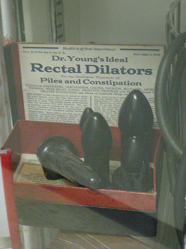 Dr Young's Rectal Dilators at Glore Psychiatric Museum